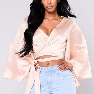 Fashion Nova Elsie Satin Top